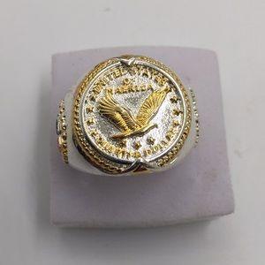 Stamped925(sterling silver) 18K GOLD FILLED Size10